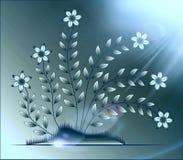 Цветет иллюстрация на красочной предпосылке Стоковое фото RF