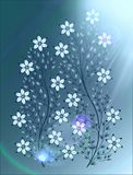 Цветет иллюстрация на красочной предпосылке Стоковые Изображения RF