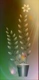 Цветет иллюстрация на красочной предпосылке Стоковое Изображение