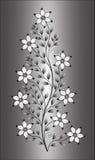 Цветет иллюстрация на предпосылке градиента Стоковое Изображение RF