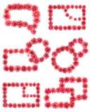 цветет иллюстрация рамки фрактали Стоковая Фотография RF