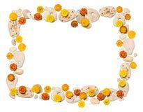 цветет камни рамок Стоковая Фотография RF