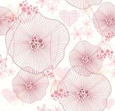 цветет картина сердец безшовная иллюстрация штока