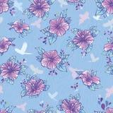 цветет картина hibiscus безшовная Стоковое Изображение