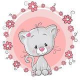 цветет котенок иллюстрация штока