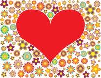 цветет красный цвет сердца Стоковое Фото