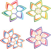 Цветет логотипы Стоковое Изображение RF