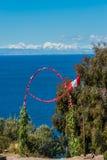 Цветет остров перуанские Анды Puno Перу Taquile ворот Стоковые Изображения RF