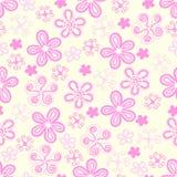 цветет пастельное безшовное иллюстрация штока