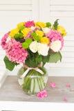 цветет пинк hortensia Стоковое Изображение