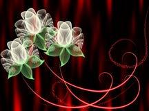цветет прозрачное Стоковое Изображение RF