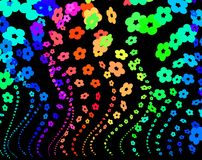цветет радуга Стоковые Изображения