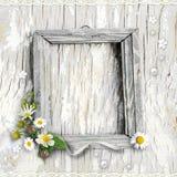 цветет рамки ретро Стоковая Фотография