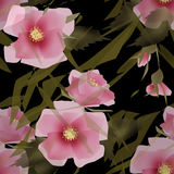 Цветет ретро абстрактная безшовная предпосылка текстуры картины Стоковое Изображение
