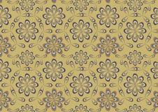 Цветет ретро абстрактная предпосылка Стоковое Изображение