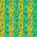 Цветет ретро абстрактной безшовной backgrou картины striped текстурой Стоковое Изображение