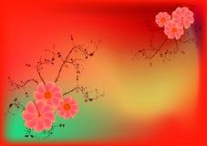 цветет ретро Стоковое Изображение