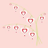 цветет сердца Иллюстрация вектора