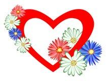 цветет сердце Стоковые Изображения