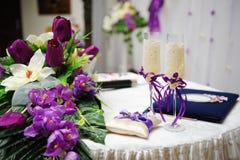 цветет стекла wedding Стоковые Изображения