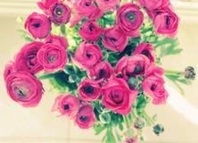 цветет стеклянная ваза Стоковая Фотография
