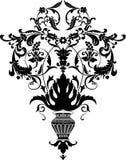цветет стилизованная ваза Стоковое фото RF