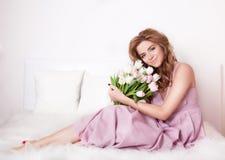 цветет сь женщина стоковая фотография