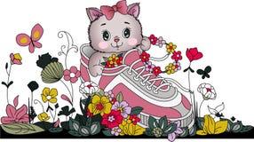 цветет теннис котенка Стоковая Фотография