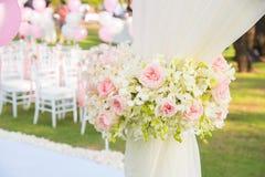 Цветет украшение в свадебной церемонии Стоковые Изображения