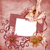 цветет фото рамок ретро Стоковые Изображения