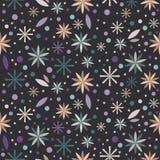 Цветет флористическая безшовная предпосылка картины Стоковая Фотография RF