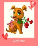 цветет щенок Стоковое фото RF