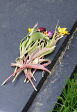 цветет gravestone завял Стоковое фото RF