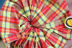 Цветет handmade от текстуры ткани Стоковые Изображения