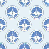 Цветет illustraton вектора картины плоского simlpe точки польки лотоса безшовное Стоковое Изображение
