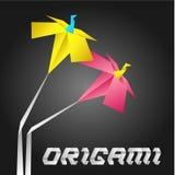 цветет origami Иллюстрация штока