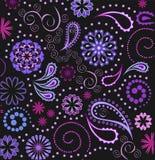 цветет paisley Стоковые Фотографии RF