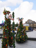 Цветистые Giants на торжестве 200 год канала Лидса Ливерпуля на Burnley Lancashire Стоковое Фото