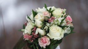 цветка dof букета розы пункта центрального фокусные низкие wedding Букет ` s невесты на день свадьбы цветки букета различные Буке Стоковое Фото
