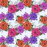 Цветки акварелью Стоковые Фотографии RF