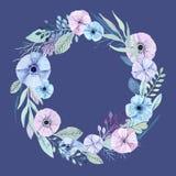 Цветки акварели вектора Стоковая Фотография RF