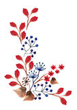 Цветки акварели красивые Стоковая Фотография