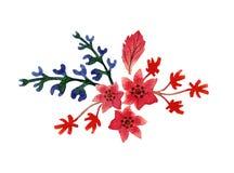Цветки акварели красивые Стоковые Фотографии RF