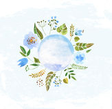 Цветки акварели красочные Стоковое Фото