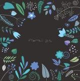 Цветки акварели красочные Стоковые Изображения