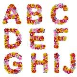 цветки алфавита Стоковое Фото