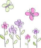 цветки бабочек Стоковые Фото