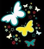цветки бабочек иллюстрация штока