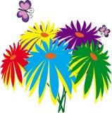 цветки бабочек Стоковая Фотография