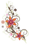 Цветки, бабочка, абстрактная Стоковая Фотография